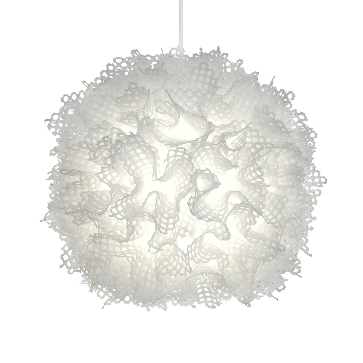 Gorgeous and modern light fixture - almost looks like bubble wrap.