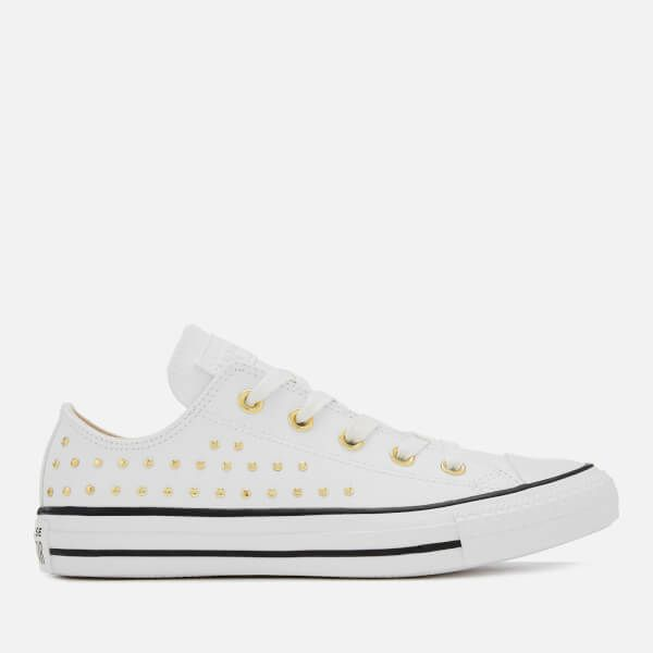 a567f5695d3ee5 Converse Women s Chuck Taylor All Star Ox Trainers - White Gold - UK 4 -  White