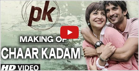 Making of Chaar Kadam Video Song | #PK | #SushantSinghRajput | #AnushkaSharma  http://bollywood.chdcaprofessionals.com/2014/11/making-of-chaar-kadam-video-song-pk.html