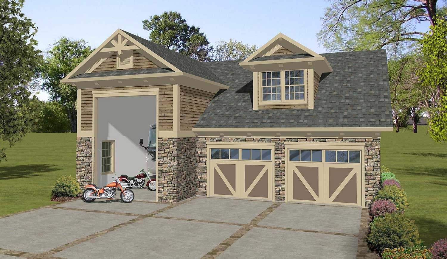 Garage Apartment Plan 20127ga Craftsman Garage Apartment With Rv Garage Dream