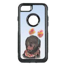 Cheerful Black Labrador Retriever Dog OtterBox Commuter iPhone 7 Case
