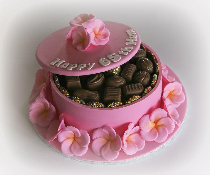 Frangipani Chocolate Box Cake   Chocolate boxes, Chocolate box ...