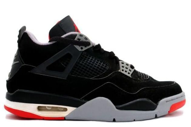 f4fe8838d45 Nike Air Jordan 4 Retro Black Red Shoes