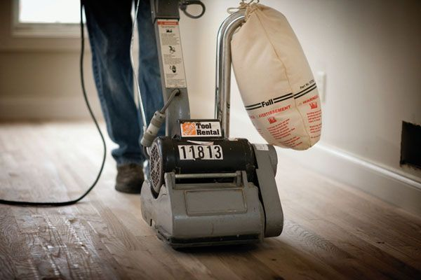 One Of The First Steps In Refinishing Your Hardwood Floors Is Sanding Rent A Floor Sander From The Home Depot To Spe Flooring Renting Ideas Diy House Projects
