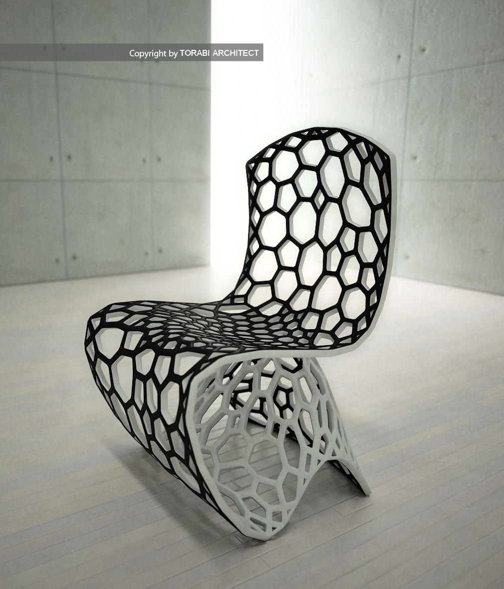 Chair Furniture Design: Parametric Seating – Voronoi Chair