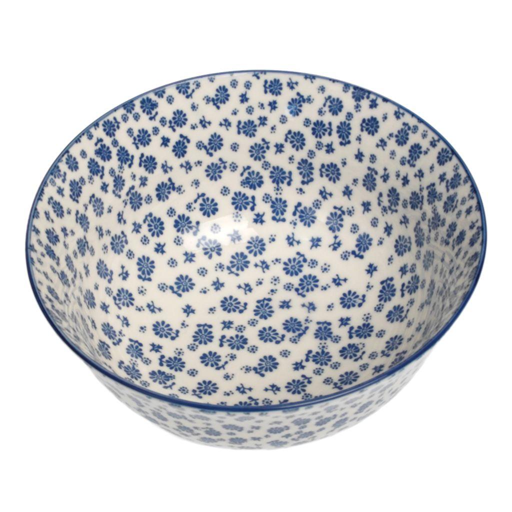 Large Japanese Bowl Blue Daisies | DotComGiftShop
