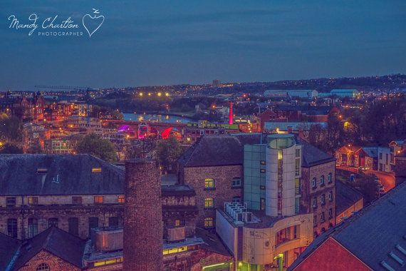 Ouseburn Valley in the Evening, Newcastle, landscape Fine Art Photographic Canvas 16x24