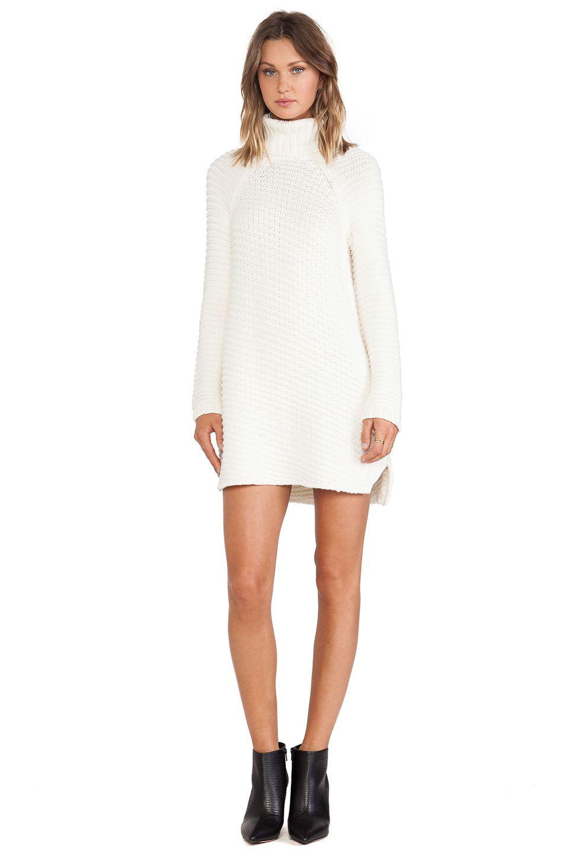 Mason By Michelle Mason Turtleneck Dress In Ivory Revolve Turtle Neck Dress Sweater Dress Women White Turtleneck Dress [ 1450 x 960 Pixel ]
