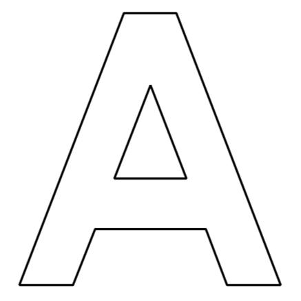 buchstaben des alphabets zum ausdrucken basteln pinterest. Black Bedroom Furniture Sets. Home Design Ideas