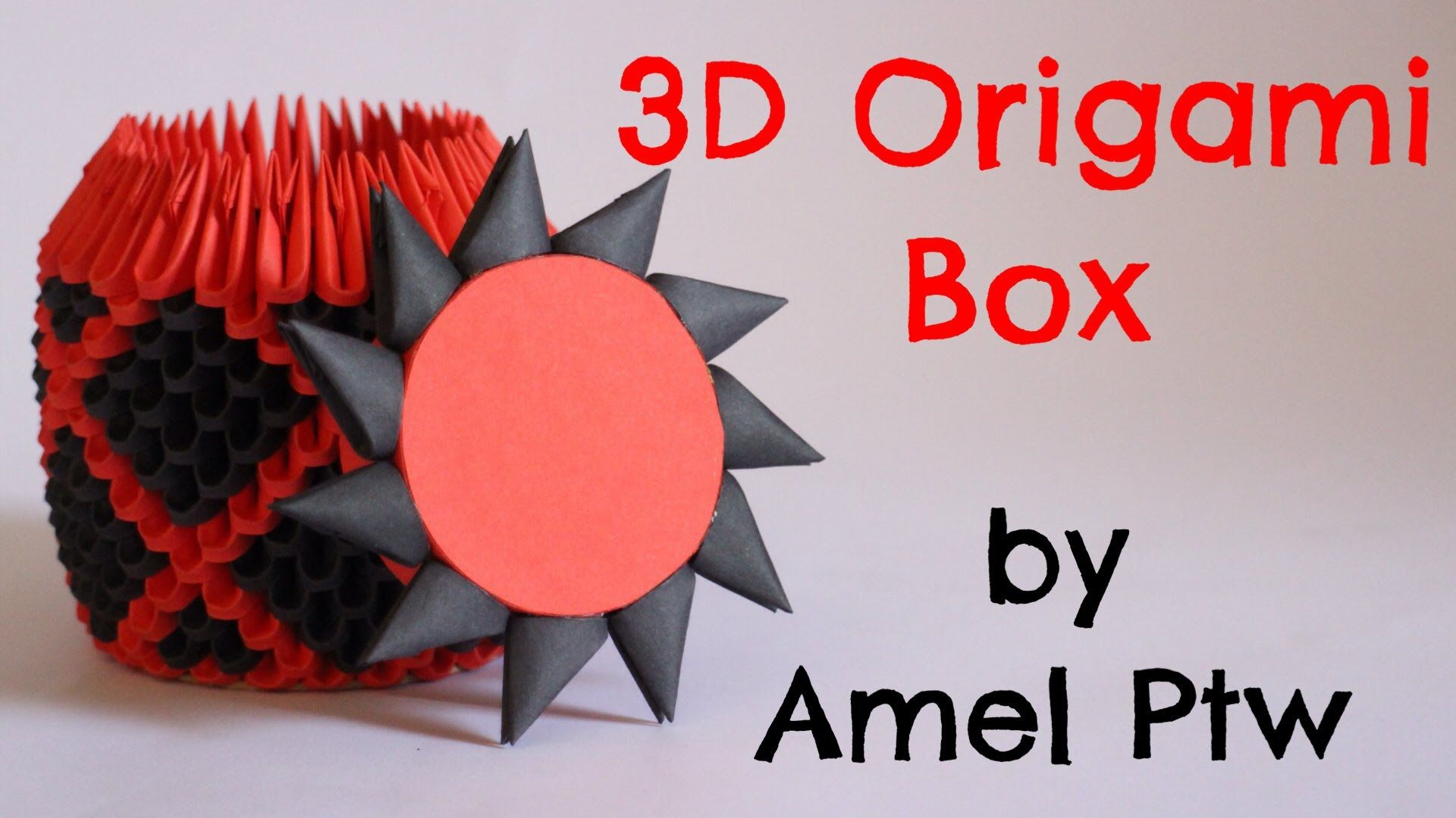 How To 3d Origami Box Model 2 Origami Box 3d Origami Origami