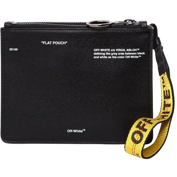 Off-white FLAT POUCH PRINTED LEATHER POUCH 3MFdSCBXC