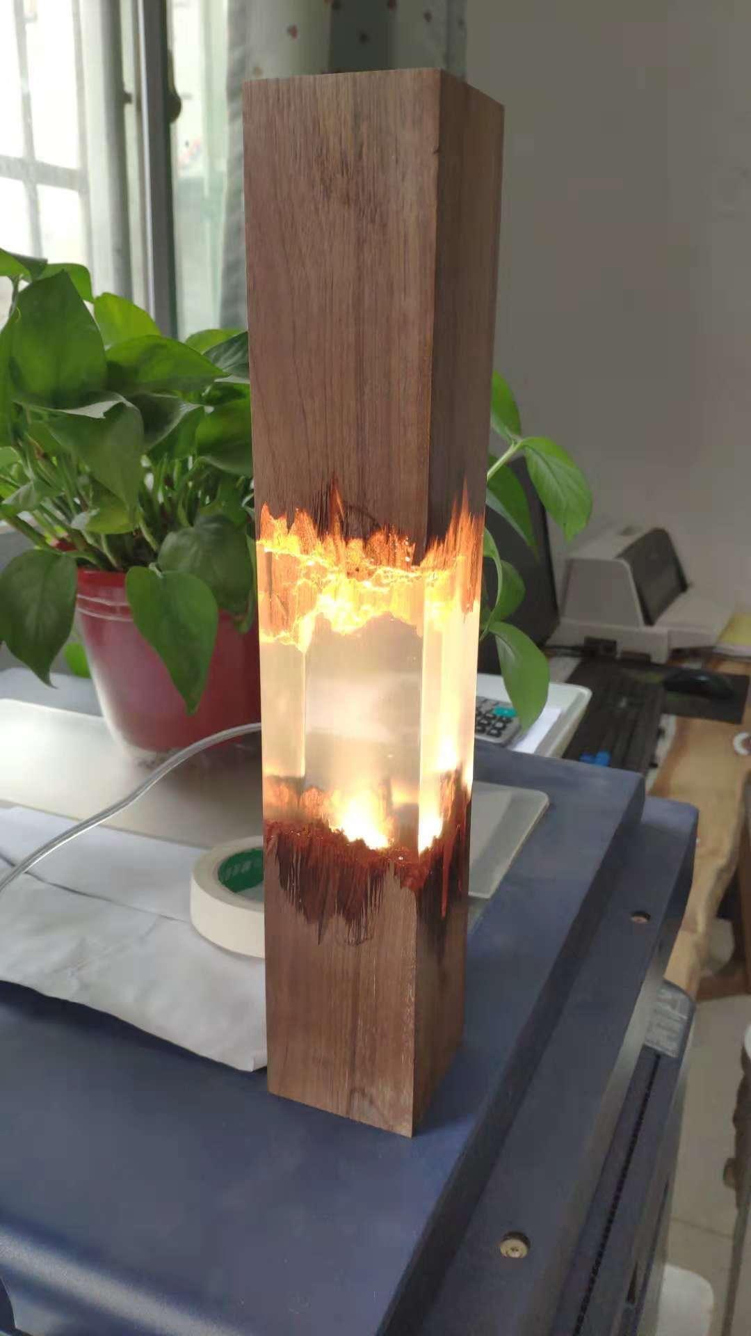 Meuble Avec Resine Epoxy acheter lampe de table en bois massif avec r�sine �poxy