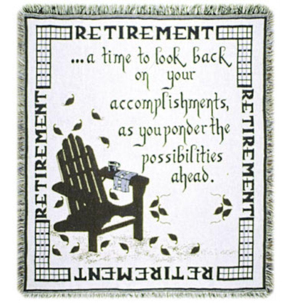 retirement words of wisdom tapestry throw retirement retirement