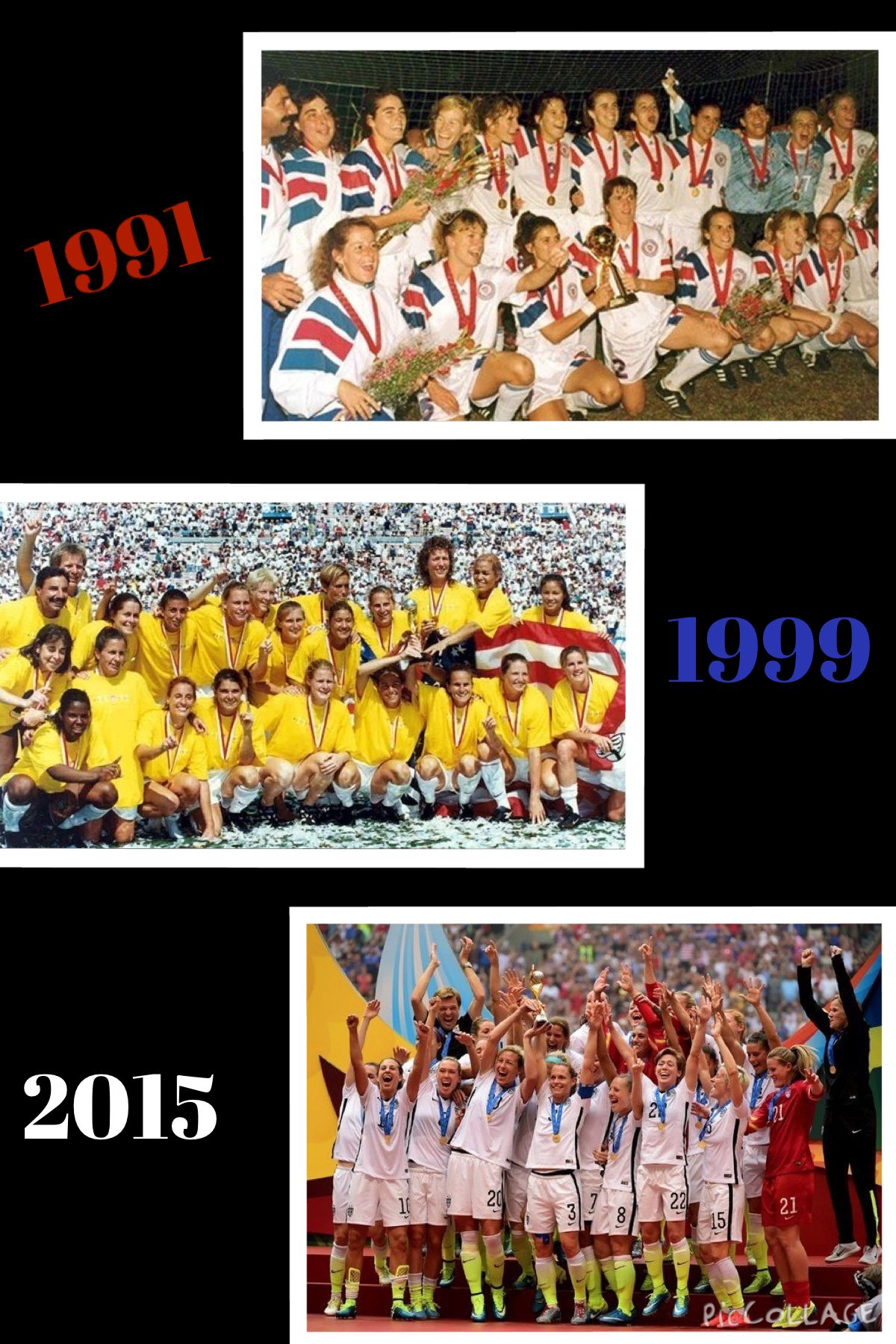 1991 1999 2015 Usa Women S World Cup Champions One Nation One Team Win Like The Uswnt Uswnt World Cup Champions One Team
