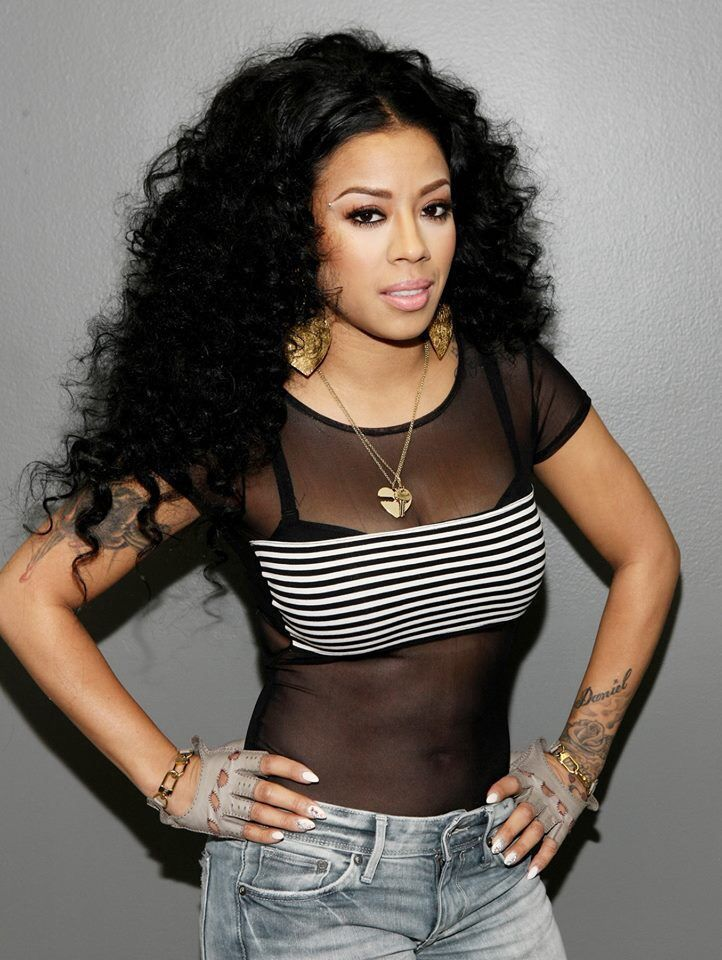 Keyshia Cole With Long And Curly Black Hair On The