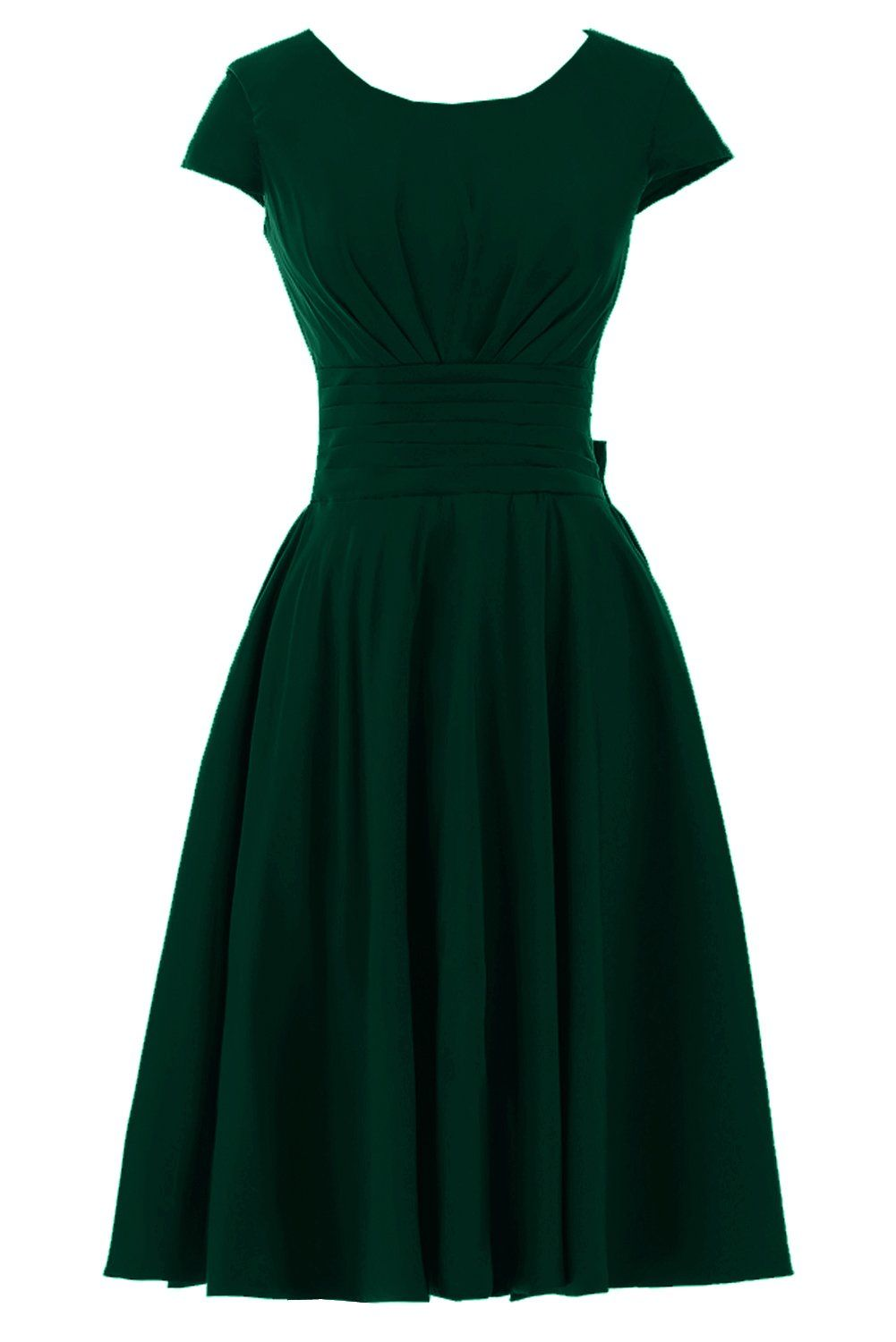 Short sleeve dresses for wedding guests  Sunvary Short Sleeves Bridesmaid Dress Evening Pageant Dress Short