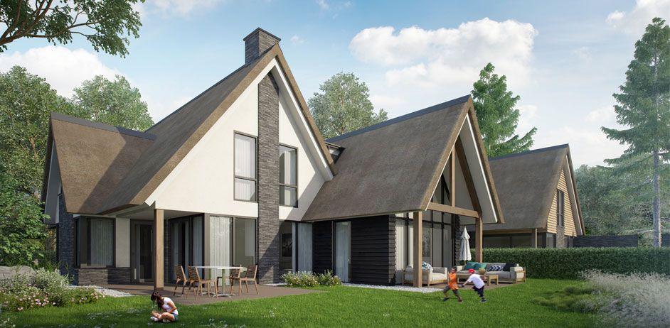Nieuwbouw villa te oud beijerland buitenhuis villabouw sterk adviesbureau voor - Oud en modern huis ...