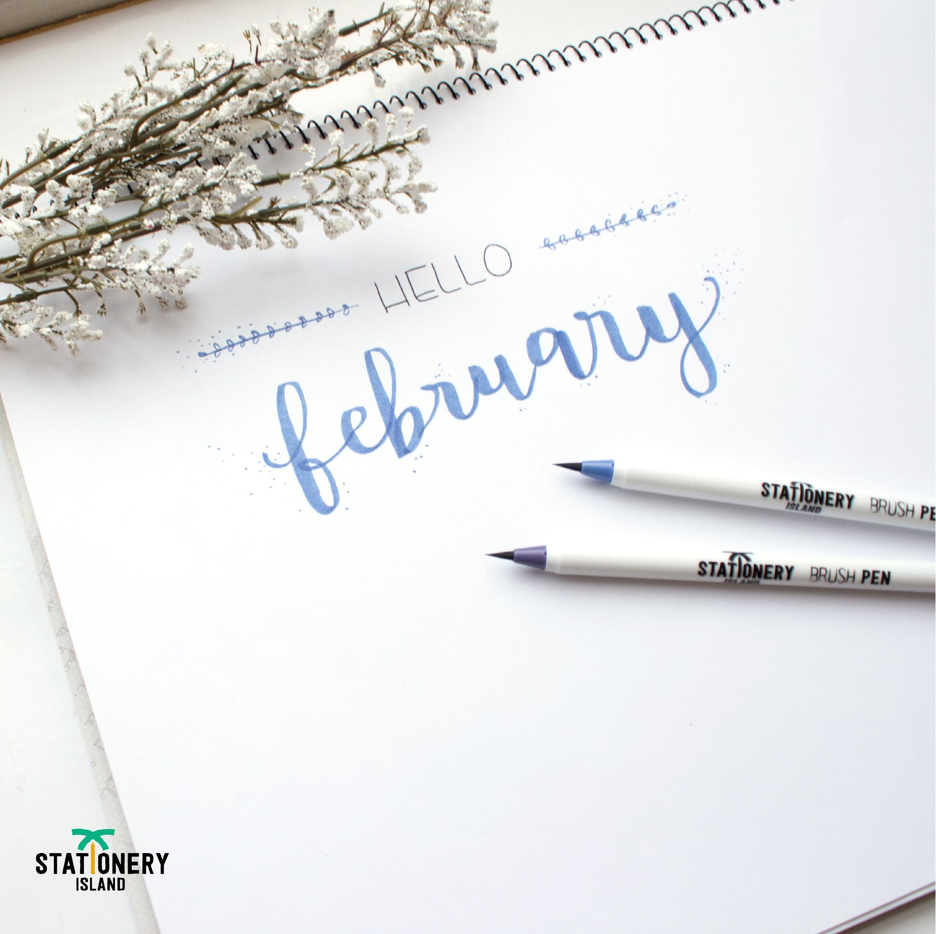 Brush Pens Pack Of 6   Winter Colours   Lush lettering