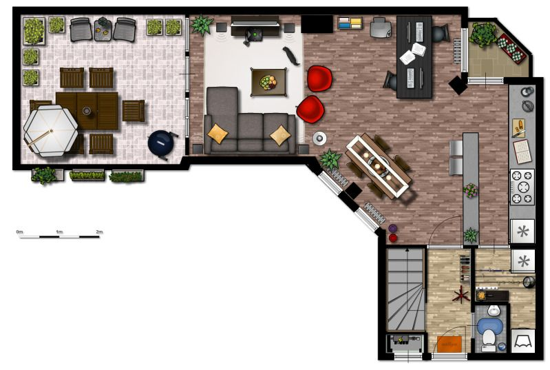 First Floor Made With Floorplanner Floorplanner Com