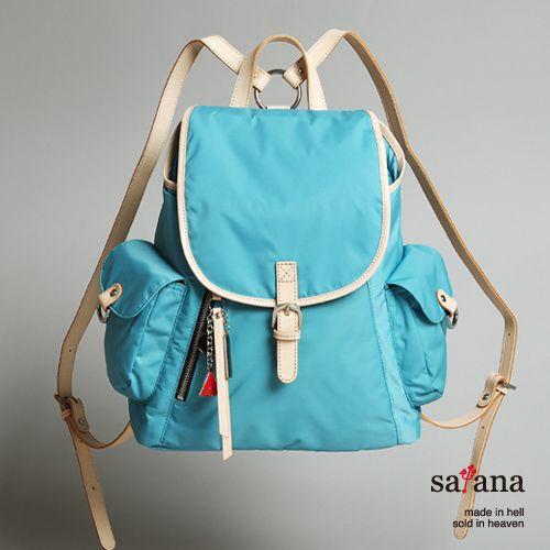 satana - 小確幸‧優雅小型後背包 - 薄荷藍 - Yahoo!奇摩購物中心