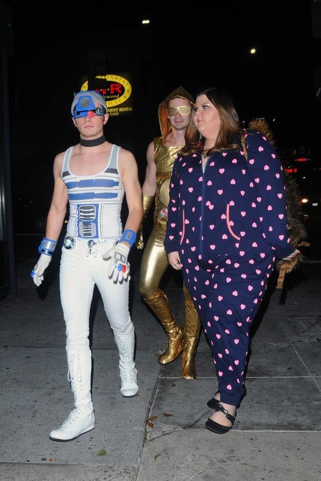 Chris Colfer Halloween Costume 2020 Chris Colfer, Will Sherrod, & Ashley Fink   attends a Halloween