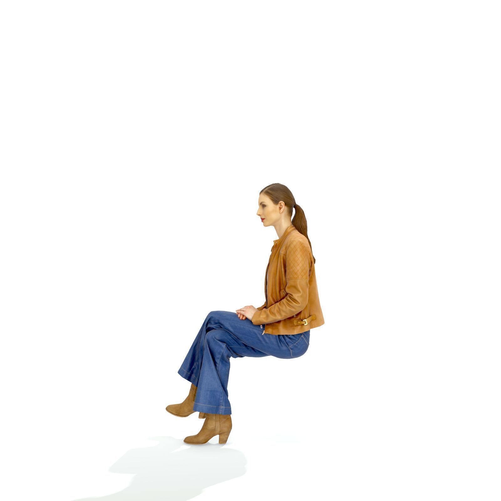 Sitting Casually Dressed Woman Cwom0326 Hd2 O03p01 S 3d Model People Png People Sitting Png Person Silhouette