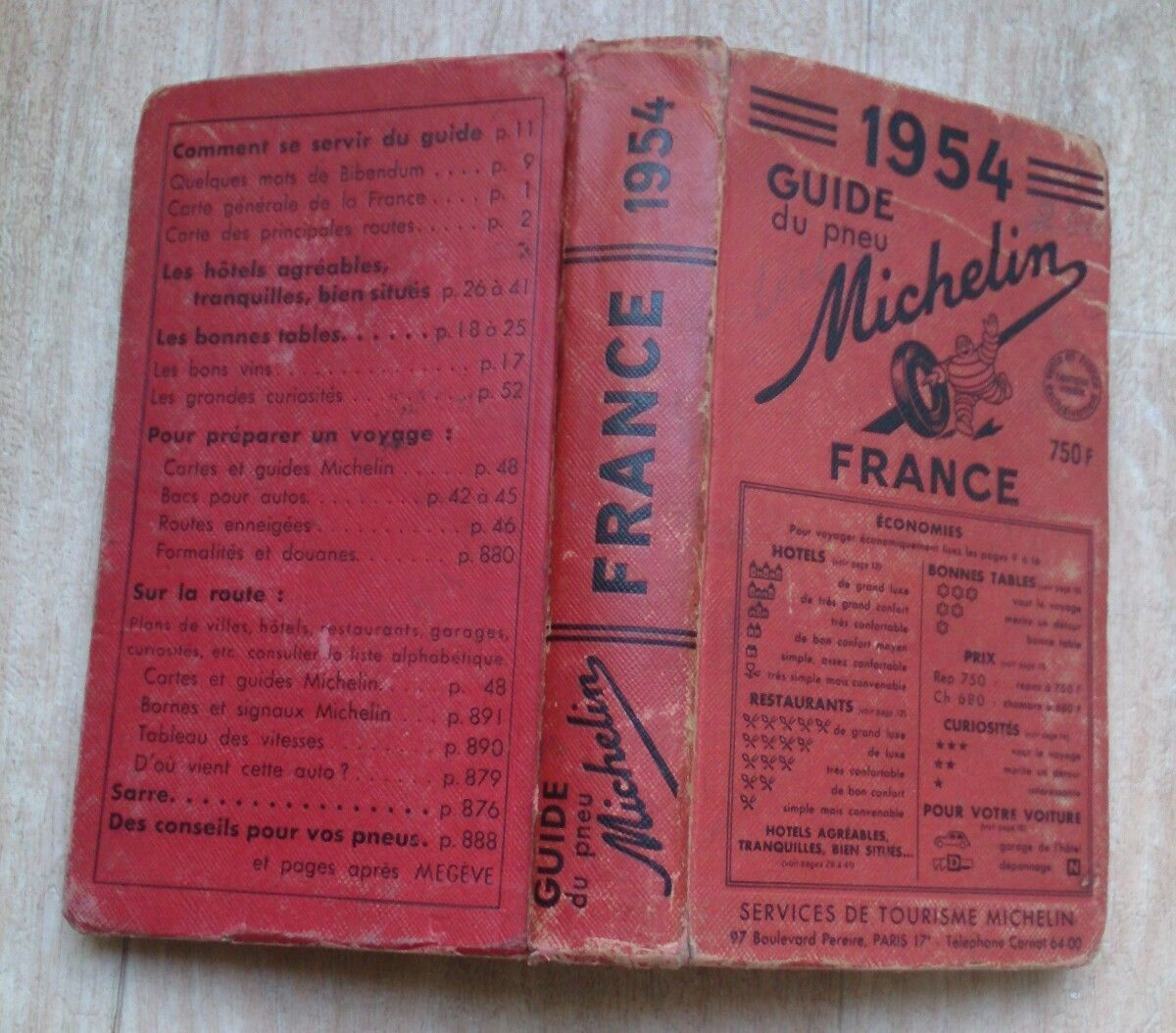 1954 Guide Rouge Michelin France Check More At Https Lazidoshop Com Product 1954 Guide Rouge Michelin France