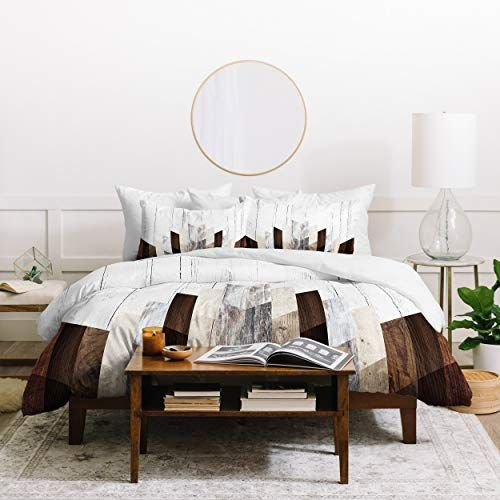 10 Ultra Small Bedrooms With King Size Beds: Wood Duvet Cover Set King Size