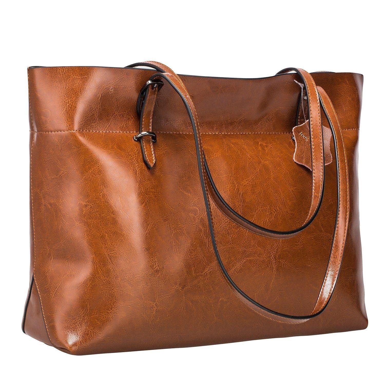 9760460d6c Women s Vintage Genuine Leather Tote Shoulder Bag Handbag Upgraded ...