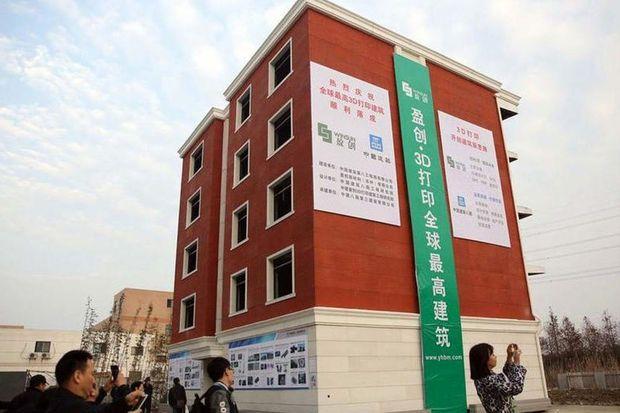 Dit is het eerste 3D-geprinte flatgebouw ter wereld