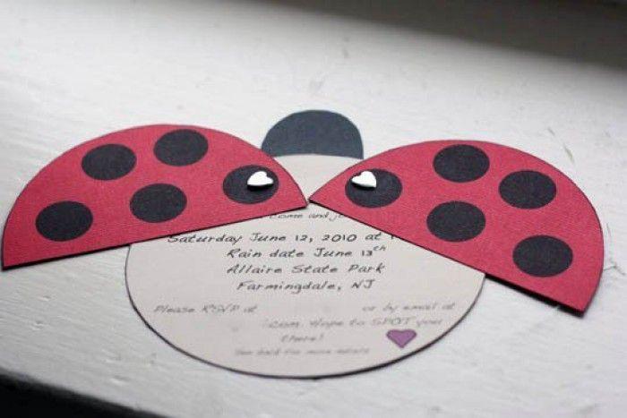 süße marienkäfer einladung selber basteln | einladungen joanne, Einladung