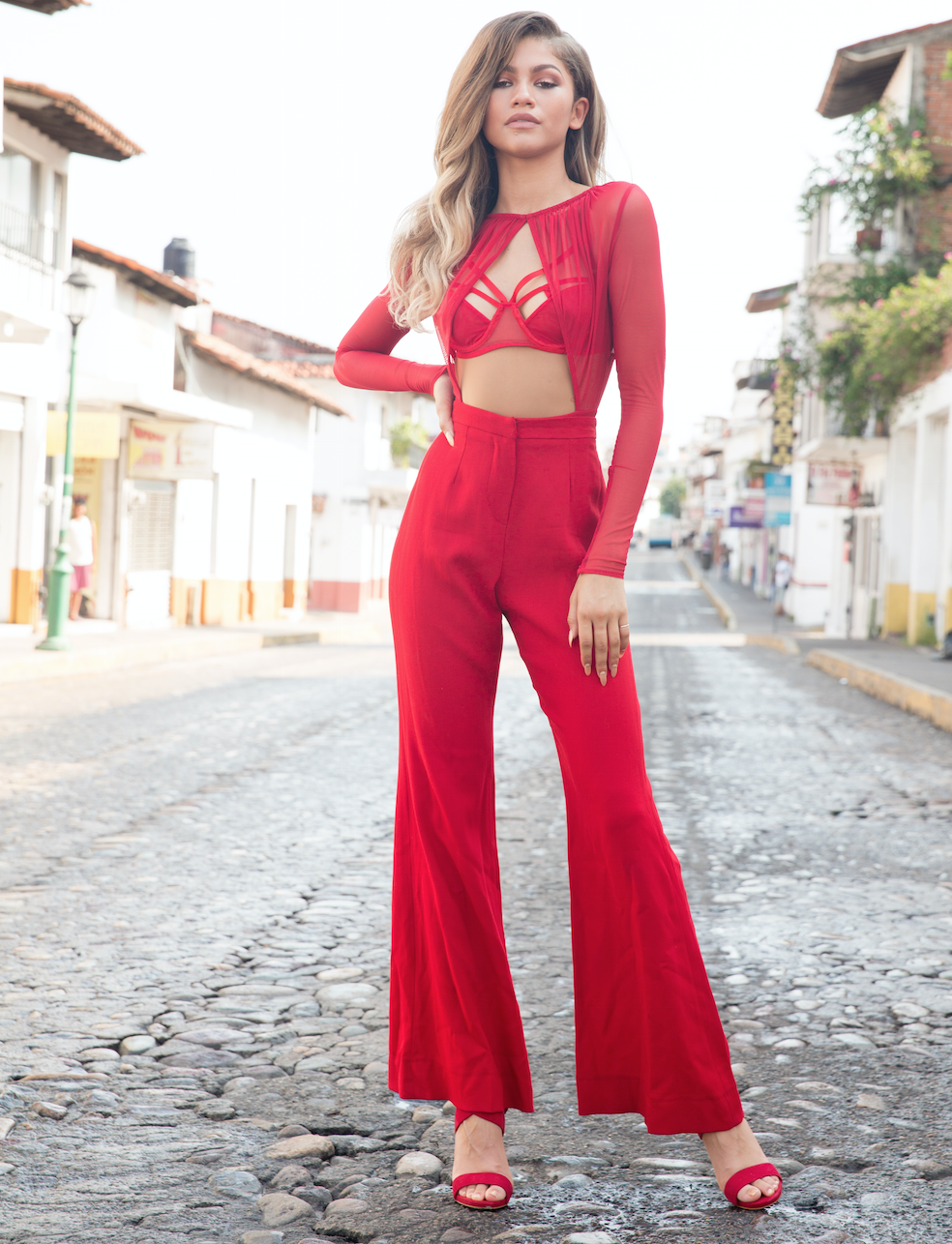 Image result for zendaya red pants