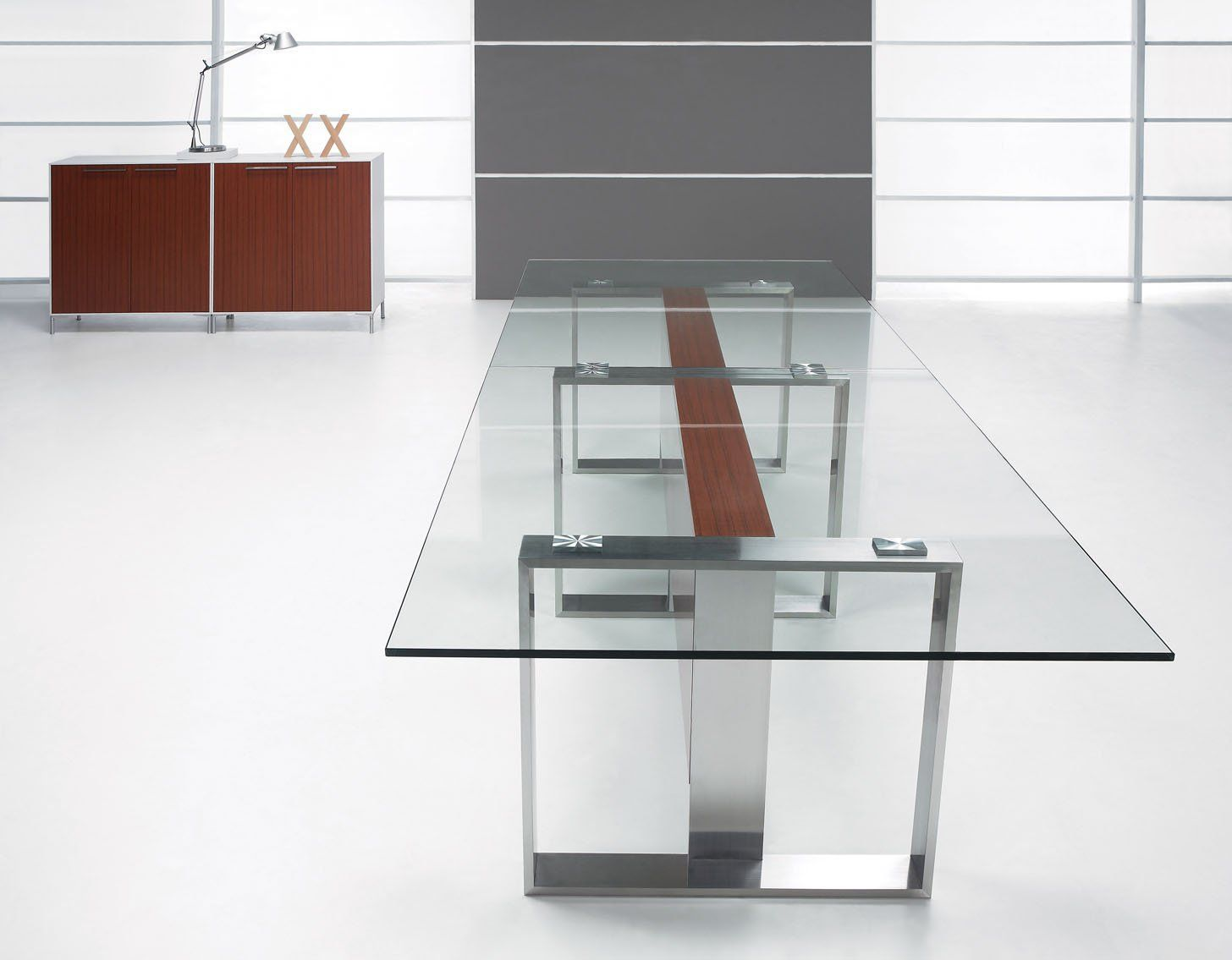Modern Glass Table Modern Glass Conference Table Axia Offices Pinterest