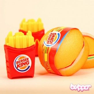 Burger Mini Note Pad & Pen | Blippo.com - Japan & Kawaii Shop