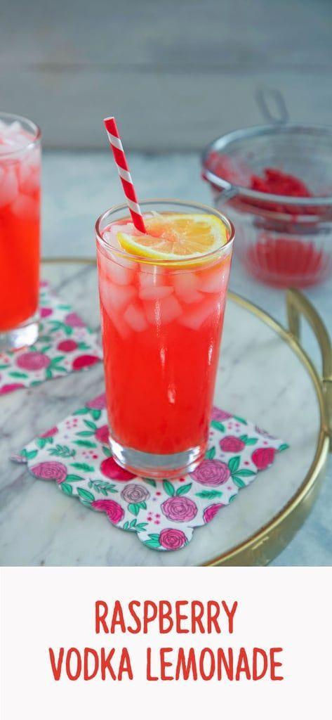 Raspberry Vodka Lemonade #lemonadepunch