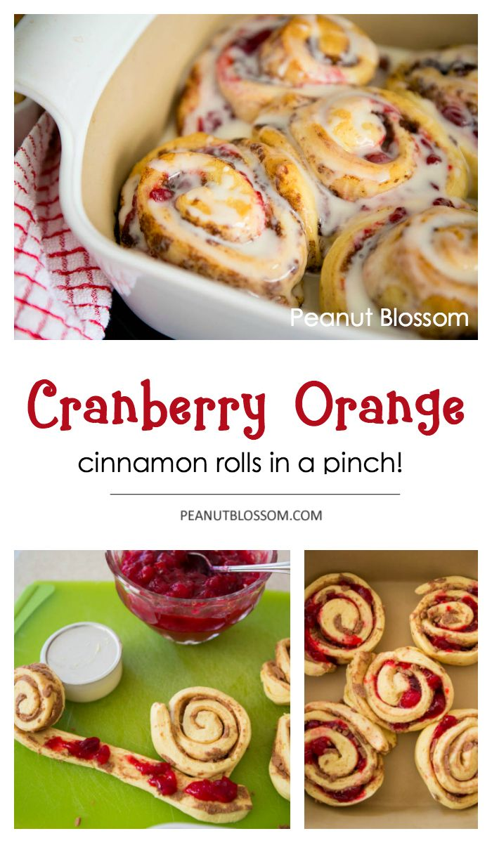 Cranberry Orange cinnamon rolls: Perfect for using up your Thanksgiving leftovers or for Christmas morning breakfast!