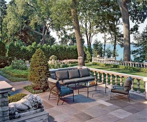 Terrace Overlooking Lake Michigan But Feels Kinda Like The Terrace In The Sound Of Music Dreamy Gardens Amp Landscapes Outdoor Outdoor