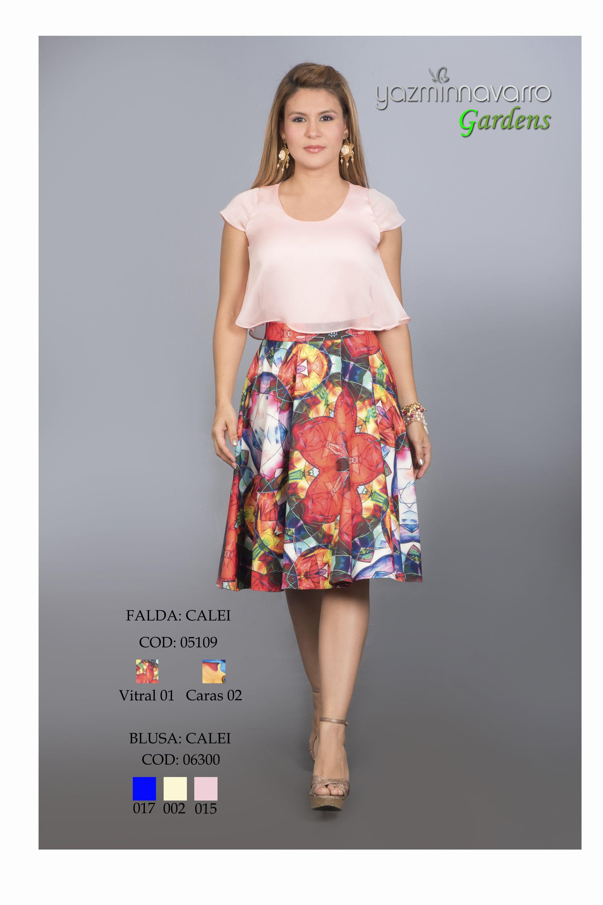 bb164dee93 Falda rotonda y blusa doble Tendencias Primavera Verano