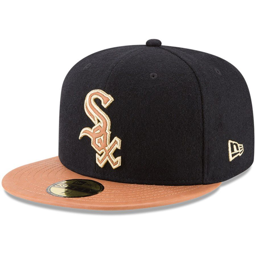 uk availability 8810f 152ae Men s Chicago White Sox New Era Black Natural Wilson Collaboration 59FIFTY  Fitted Hat, Your Price   49.99