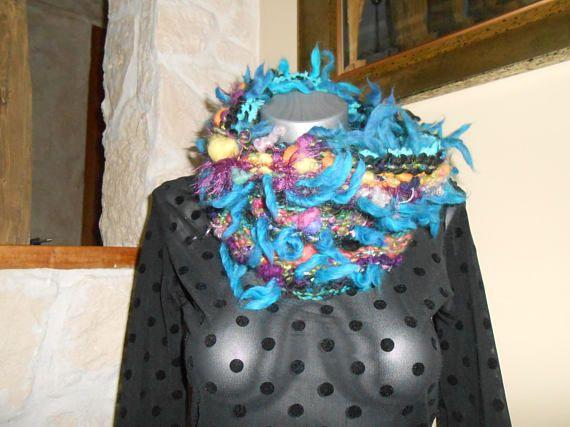 Col tricot ultra doux   laine filée mérinos soie mohair Rouet, Tissage,  Laine, d9a8abd39ac