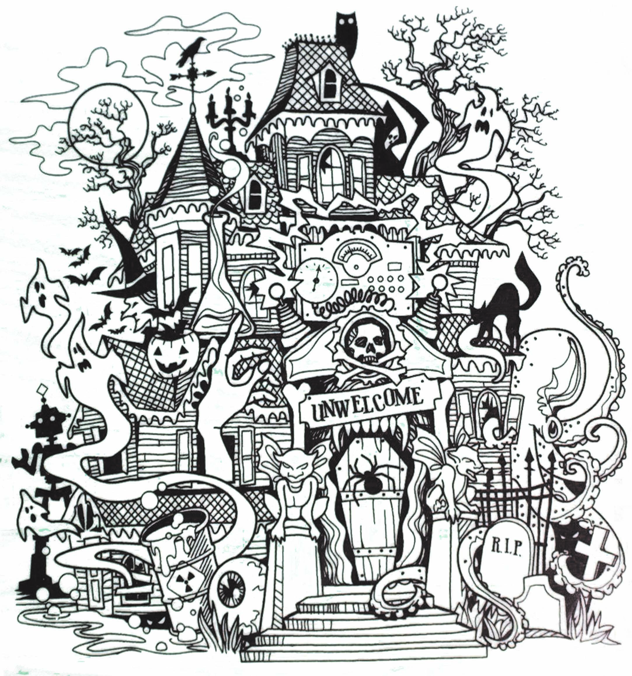 Inkadinkado Haunted House Stamp Casas Assombradas Halloween Desenhos Do Dia Das Bruxas Halloween Tattoo