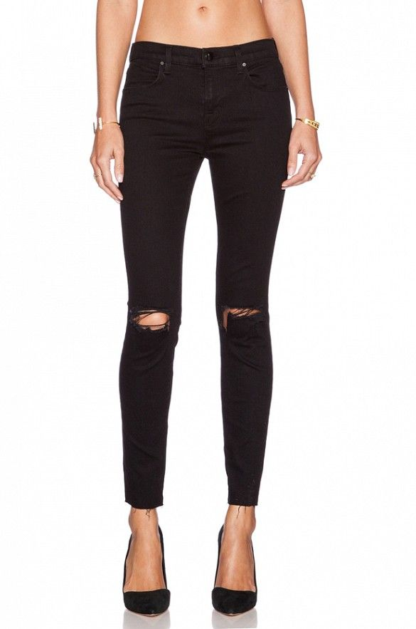 620 Mid-Rise Super Skinny in Seriously Black | Skinny jeans