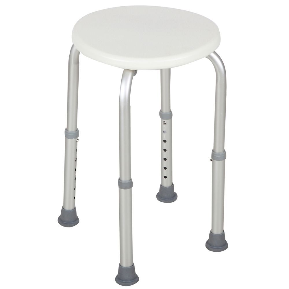 New 7 Height Adjustable Medical Bath Shower Stool Chair Bath Tub ...