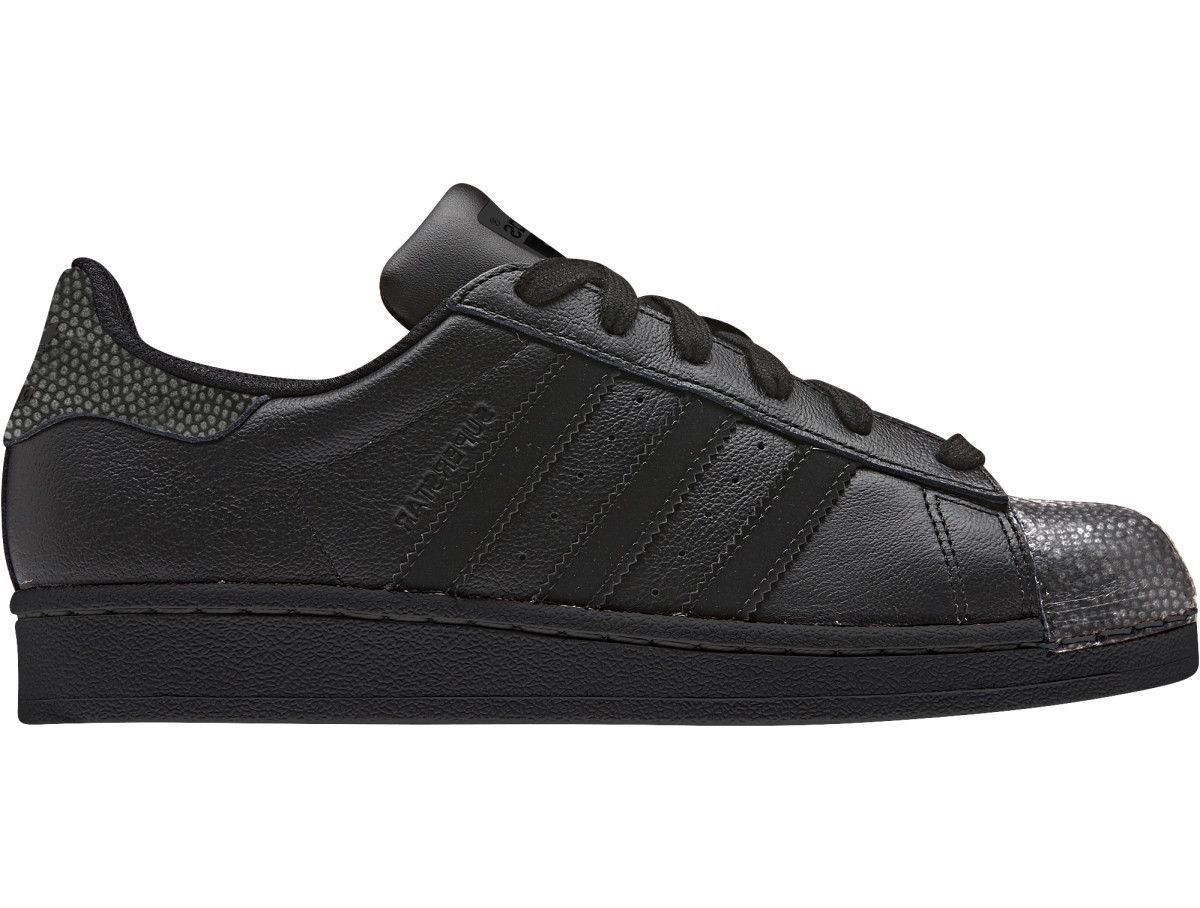 503176d49de Superstar Ray Black Shoes A  70s icon gets a flashy update with  stingray-inspired details. Go back to school in a head-turning look with  this version of the ...