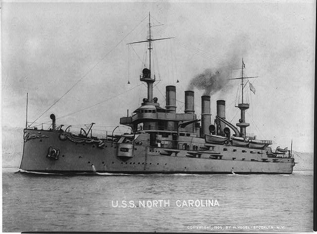U.S.S NORTH CAROLINA 1909
