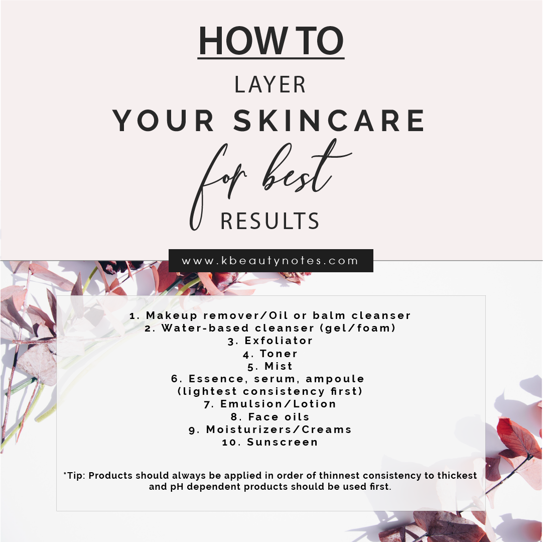 How To Layer Skincare For Best Results Kbeauty Notes Oil Face Moisturizer Skin Care Face Oil