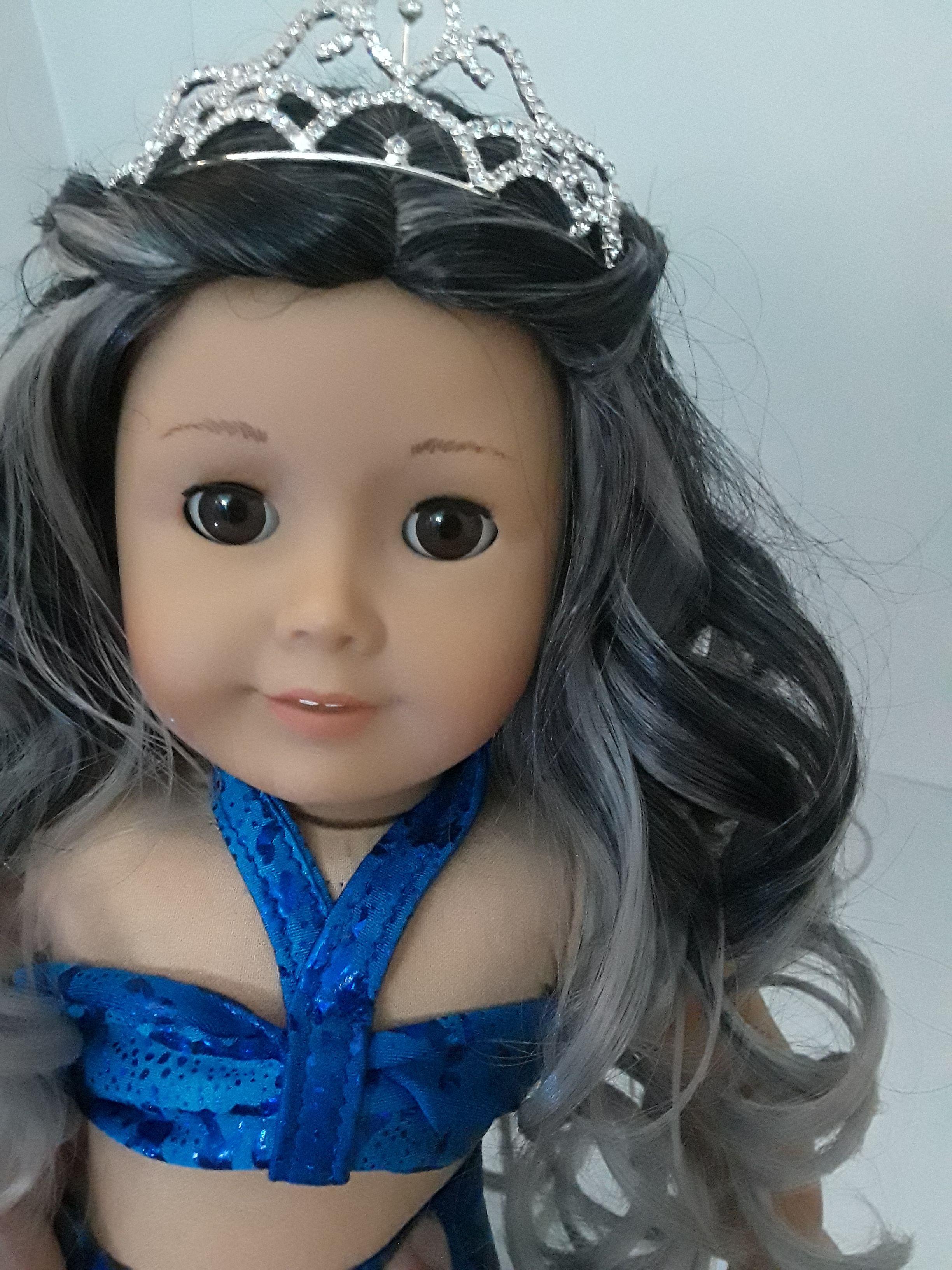 Ooak american girl custom doll mermaid princess brown eyes