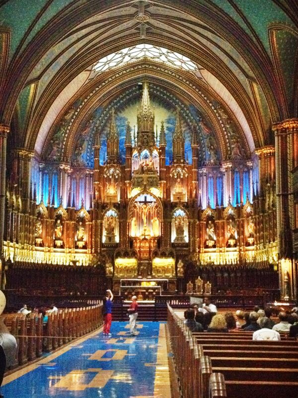 Notre Dame in Montreal, Canada