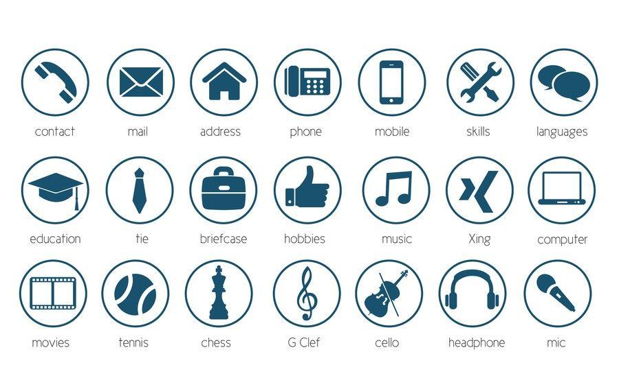 Pin di jessenia d su resume icons icone ikon