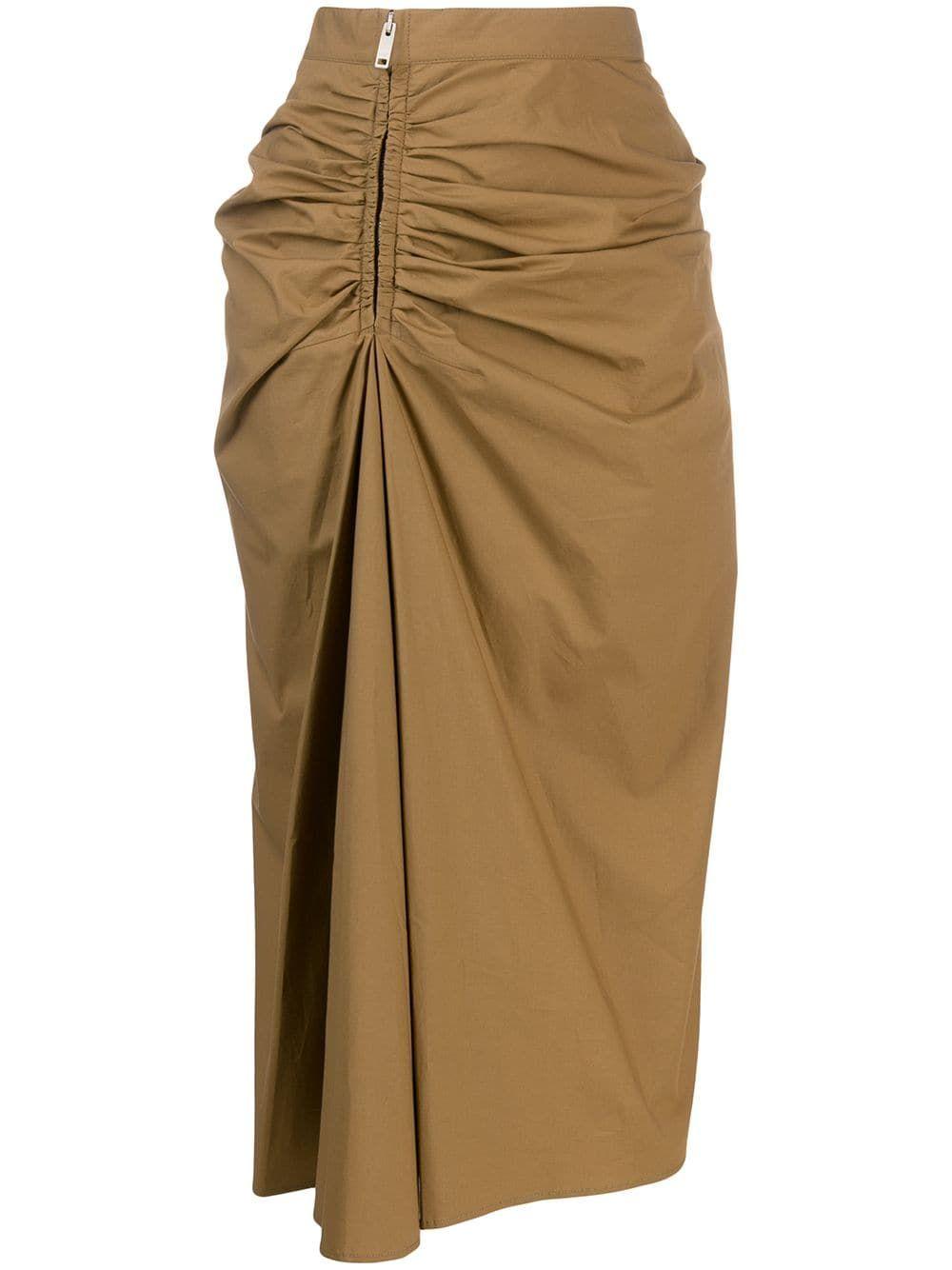 Givenchy Ruched Midi Skirt